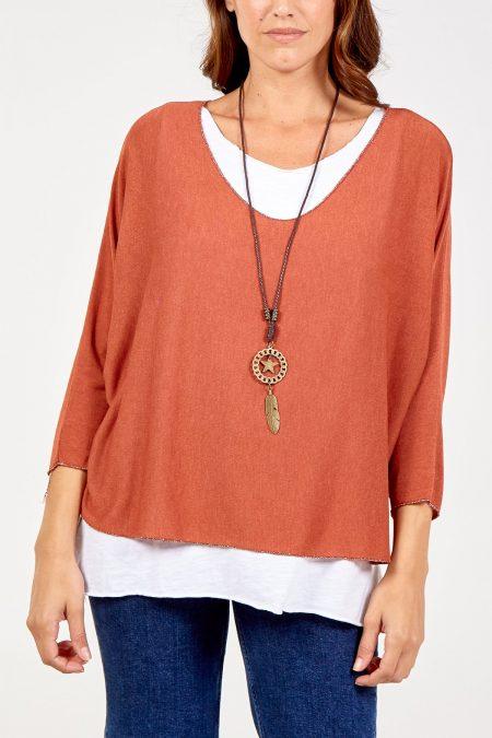Necklace Top - Brick