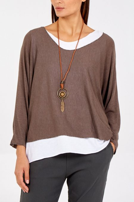 Necklace Top - Coffee