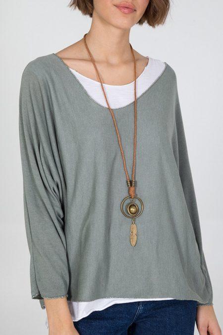 Necklace Top - Khaki