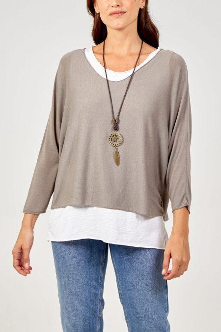 Necklace Top - Mocha