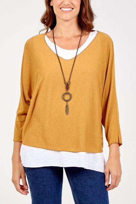 Necklace Top - Mustard