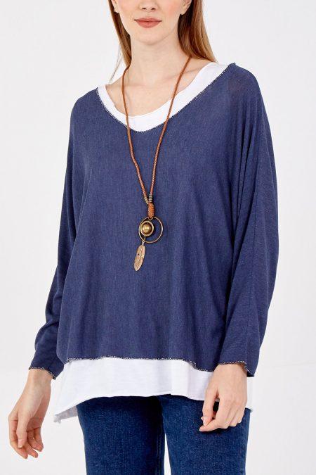 Necklace Top - Navy