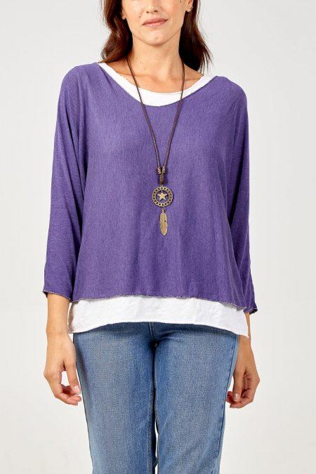 Necklace Top - Purple