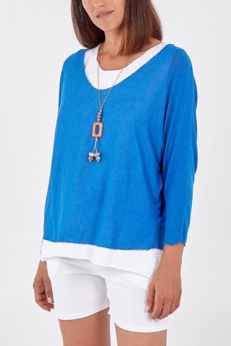 Necklace Top - Royal Blue