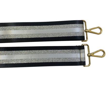 Strap - Black Silver Stripe