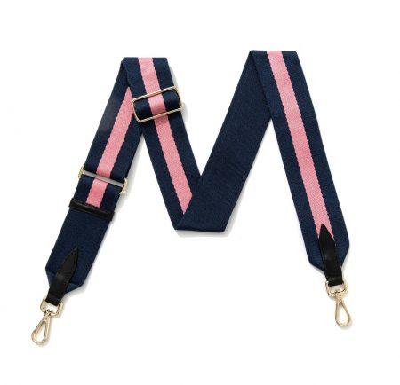Strap - Navy Pink Stripe