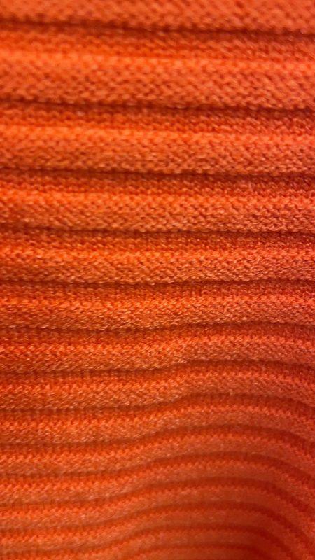 Knitted Rib Roll Neck Jumper - Burnt Orange