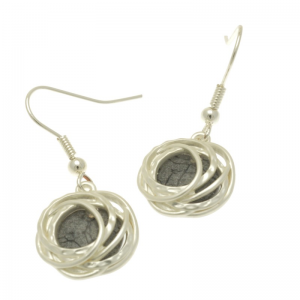 Grey and Silver Earrings FE375GGYMB