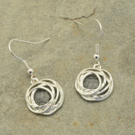 Grey and Silver Earrings FE375GGYMB 1